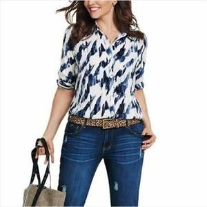 Cabi - Moody Blues Blouse - Med